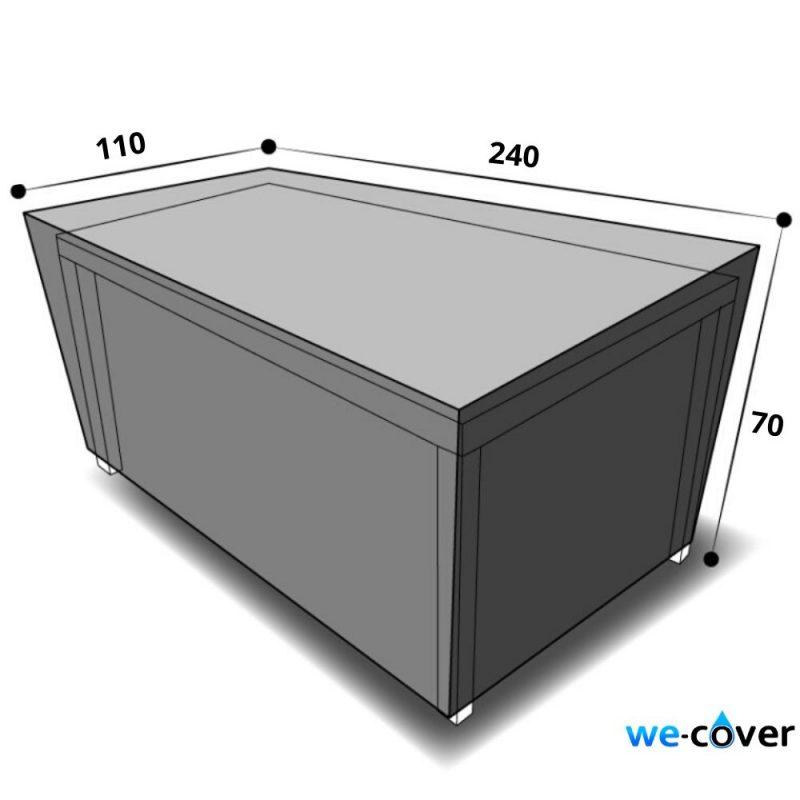 dimensions housse table rectangulaire 240 cm