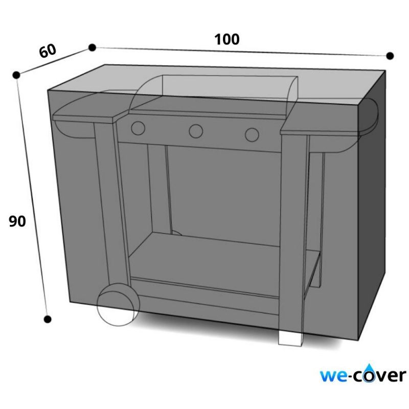dimensions housse plancha chariot 100 cm