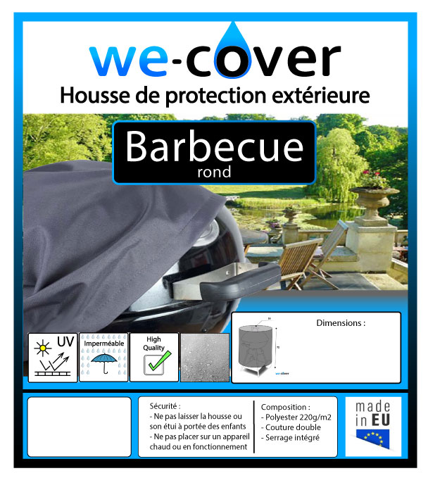 housse barbecue rond 55 cm