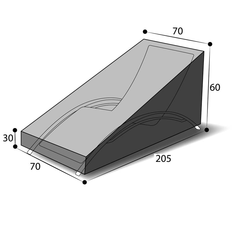 dimensions housse chaise longue